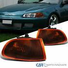 For 92-95 Honda Civic 2/3Dr Coupe Hatchback Smoke Amber Signal Corner Lights