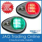 AQUATRACK LED NAVIGATION LIGHTS CHROME HOUSING-Port/Starboard Marine/Boat/Nav PC