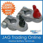 MARINE BOAT BATTERY TERMINAL WITH VINYL COATED WING NUTS - Boat/Truck/Car/4x4