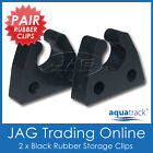 "2 x RUBBER STORAGE CLIPS 19mm (3/4"") for BOAT ANCHOR STERN POLE LIGHT/TUBE/KAYAK"