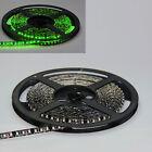 Green 5M 16.4FT 600 LEDs Flexible Strip 3528 LED Light Waterproof Black PCB 12V