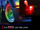 2pcs Red LED Tyre Tire Valve Caps Neon Light Bike Car motorcycle