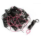 20 Pcs Black Red Wire Lead Plastic Shell Holder Case Box for 1 x 1.5V AA Battery