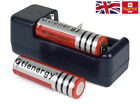 2x 18650 3.7v Li-ion Rechargeable Battery 5300mAh + Main Charger For Torch T252