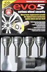 EVO 5 Thatcham Locking Wheel Bolts 12x1.5mm for Vauxhall Astra MK1, 2, 3, 4, 5