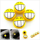 4 Pcs Teeth Smile Face Expression Auto Tire Tyre Air Dust Screws Caps For Toyota