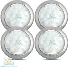 "4 X 12V 5"" STAINLESS CEILING SURFACE MOUNT W/WHITE LED LIGHT - BOAT/CARAVAN"