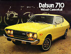1974 Datsun 710 8-page Original Car Sales Brochure Catalog