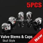 5pcs Skull Punk Style Bike Car Motors Motorcycle Tire Tyre Valve Dust Cap Cover