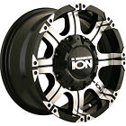 Lifted 95-99 Chevy Tahoe 4wd 18x9 6x5.5 -12 108 Ion Alloy 187 187B Wheels Rims B