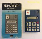 Vtg SHARP Elsi Mate EL-205 Electronic Calculator~Barely Used w/Box~Works Great