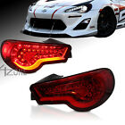High Quality RED lens Led Tail Lights fit 12 up Scion FR-S DOT SAE Rated