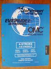 NEW - Factory Parts Manual - 1998 Johnson & Evinrude 5 & 6hp 4-Stroke Models