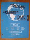 NEW - Factory Parts Manual - 1998 Johnson & Evinrude 9.9 & 15hp Models