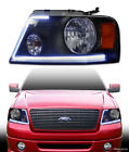 2004-2008 FORD F150 *LUMEN OPTICS* DRL LED BLACK HEADLIGHTS LAMPS SIGNAL AMBER