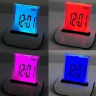7 LED Color Changing Digital LCD Thermometer Calendar Alarm Clock good new