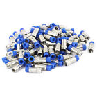 100 Pcs RG6 F Connector Adapter Coax Compression Satellite Cable Fitting