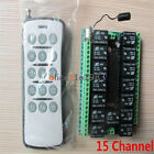 15CH/15 Channel 315MHZ RF Remote Control Transmitter Receiver Module 12V DC