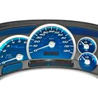 For Chevy Avalanche 1500 03-05 US Speedo Aqua Edition Gauge Face Kit, 120 MPH