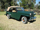 Willys: Jeepster Chrome 1950 Willys Overland Jeepster Concours Restoration