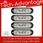 4 X 12V 9W VERSATILE COMPACT UTILITY COMPARTMENT CARGO LOCKER GUNWALE LED LIGHTS