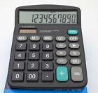 Solar Power 12 Digits Powered Battery Digit Calculator Desktop Large Buttons ☆