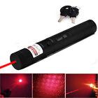 Military High-Power Red-Purple Laser Pointer Pen 5mw 405nm Beam Burning Laser