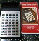 texas instruments ti-30 slide rule vintage calculator red LED W/ manual