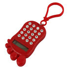 Plastic Footprint Shape Portable 8 Digits LCD Display Calculator Keychain Red