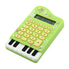 Office School Student Piano Design Portable 24 Keys Electronic Calculator Green