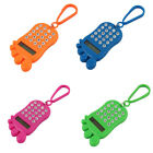 Plastic Footprint Shape Portable 8 Digits LCD Display Keychain w Calculator