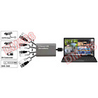 4-Channel CCTV To USB DVR Adapter Camera Quad Video Switcher For PC