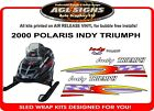 2000 Polaris Indy TRIUMPH 600  Reproduction Hood Decal Set  Graphics
