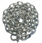 "Stainless Steel 316 Anchor Chain 5mm or 3/16"" by 6' long with quality shackles"