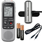 Sony ICD-BX140 Digital Voice Recorder and Omnidirectional Stereo Clip Microphone