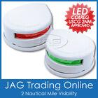 12V WHITE HOUSING LED TOP/DECK/BOW NAVIGATION LIGHTS - PORT/STARBOARD BOAT LAMPS