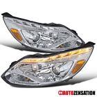 12-14 Ford Focus Chrome Projector Headlights+LED DRL Light Bar+LED Signal
