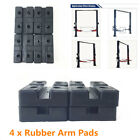 4Pcs Heavy Duty Black Rubber Arm Pads Car Lift Accessories For Auto Truck Hoist