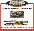 2003 Ski-doo MACH Z  Replacement ADSA Trailing Arm Decal Set