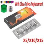 Coil Head Cloud Beast Replacement Glass Tube for V8 T8 X4 Q2 T6 Lot