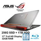 "Asus G752VS ROG 17"" Full-HD Core i7 8GB-GeForce 32GB-RAM 256GB SSD+1TB Laptop AU"