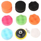 """11Pcs 3"""" Car Buffing Sponge Polishing Pad Kit For Electric Drill with Adapter US"""