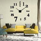 Acrylic Modern DIY Wall Clock 3D Mirror Surface Sticker Home Office Decor Pretty