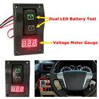 12V Car Marine Boat Dual Battery Test Panel Rocker Switch LED Voltage Voltmeter