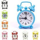 Mini Travel Alarm Clock Round Dial Number Desk Bedside Clocks Home Office