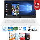 "LG gram 13"" Intel i5 8GB RAM 256GB SSD Laptop, White + Extended Warranty Pack"