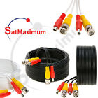 Security Camera Video Surveillance Cable Power CCTV DVR BNC Extension Cord LOT