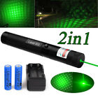 10Miles G303 Green Visible Light Hunting Pointer Lazer Pen 18650&Charger