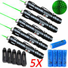 5 X 1mw 532nm Green Visible Beam Professional Laser Pointer Pen +BATTERY+CHARGER