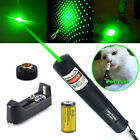1mw 532nm Visible Green Beam Light &Star Cap Laser Pointer Pen Battery Set